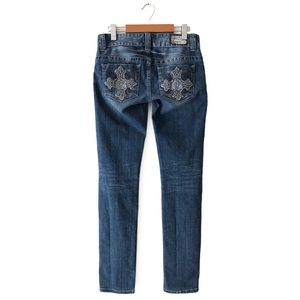 Guess Daredevil Skinny Leg Jeans 27 Medium Wash